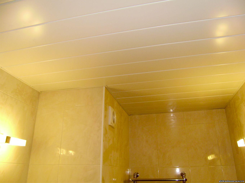 Дизайн реечных потолков в ванной