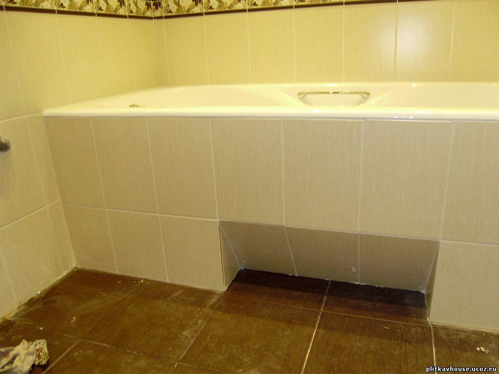 Как и чем закрыть пространство под ванной 8
